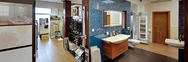 panoramatická prohlídka koupelnového studia Kladno, Praha, sprchová vanička, koupelnové radiátory, obkladačské práce, bidet, stavební chemie