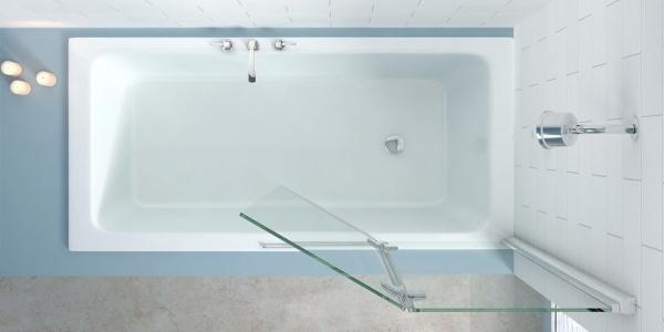 vanové zástěny, venkovní sprcha, zrcadlové skříňky, vodovodní armatury, nápady, mozaiky, ruční sprcha, kombi WC